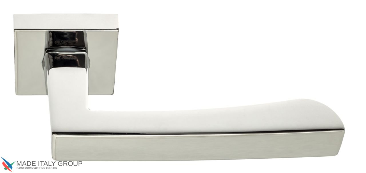 Door Handle on Square Basis Fratelli Cattini ''HAMMER'' 8-CR Polished Chrome