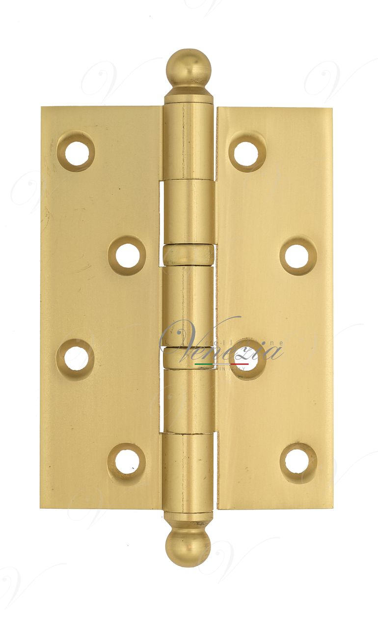 Universal brass hinge with a round cap Venezia CRS010 102x76x3 French Gold