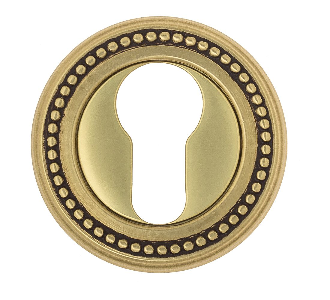 Euro Escutcheon Venezia CYL-1 D3 French Gold + Brown
