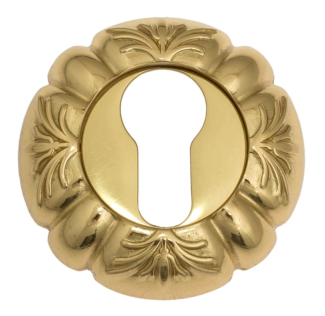 Euro Escutcheon Venezia CYL-1 D5 Polished Brass