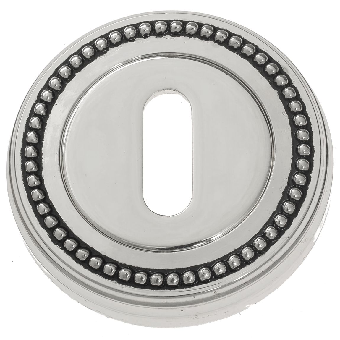Keyhole Escutcheon Venezia KEY-1 D3 Natural Silver + Black
