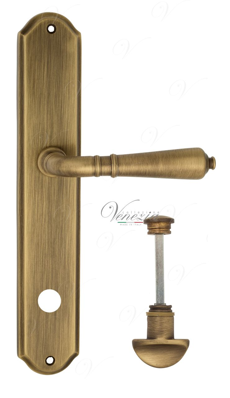 Door Handle Venezia  VIGNOLE  WC-1 On Backplate PL02 Mat Bronze