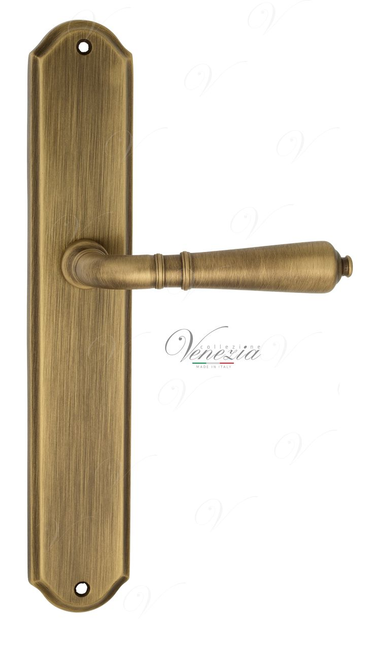 Door Handle Venezia  VIGNOLE  On Backplate PL02 Mat Bronze