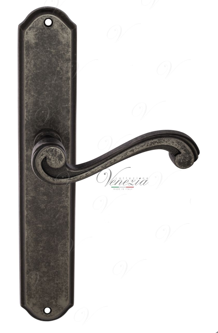 Door Handle Venezia  VIVALDI  On Backplate PL02 Antique Silver