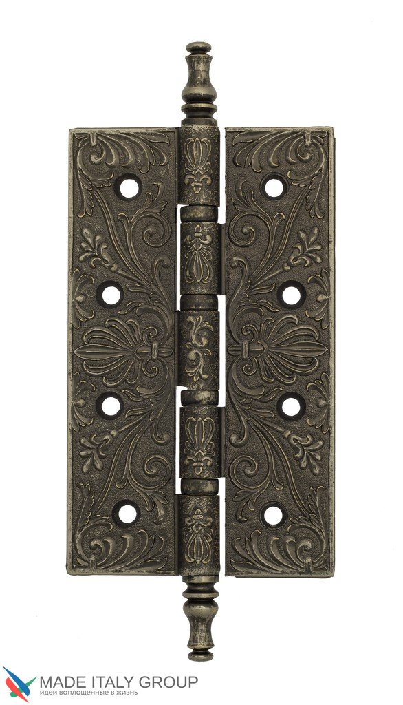 Universal Brass Hinge With Pattern Venezia CRS012 152x89x4 Antique Silver