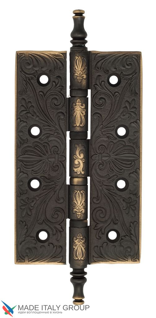 Universal Brass Hinge With Pattern Venezia CRS012 152x89x4 Dark Bronze