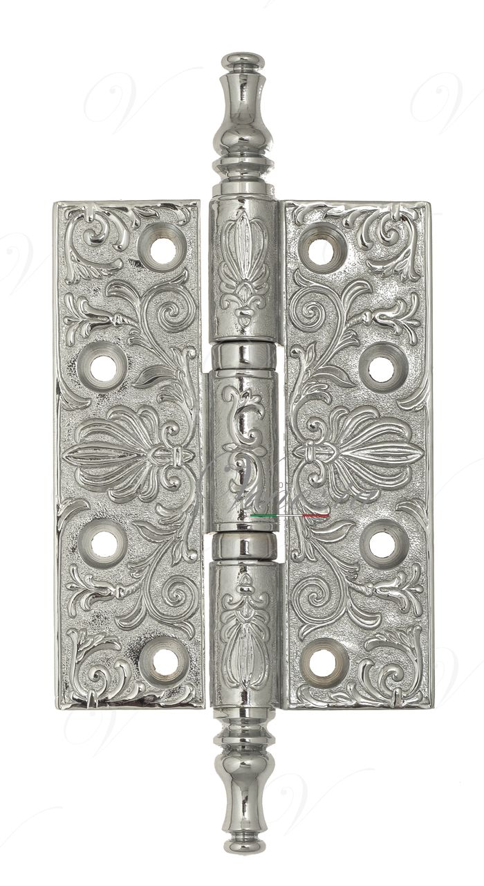 Universal Brass Hinge With Pattern Venezia CRS011 102x76x4 Polished Chrome