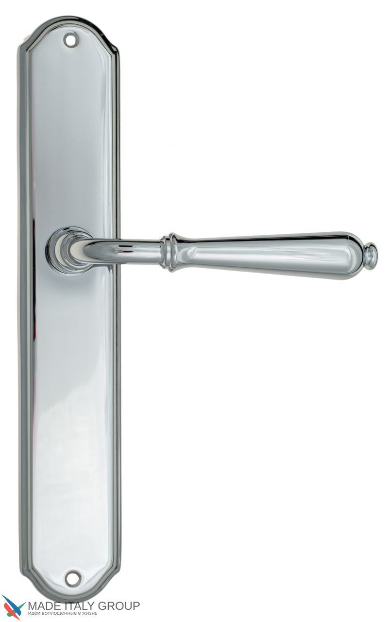 Door Handle Venezia  CLASSIC  On Backplate PL02 Polished Chrome