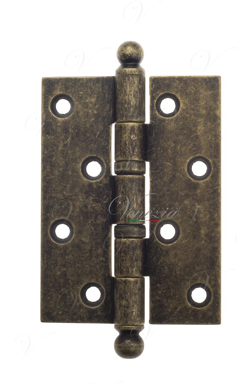 Universal brass hinge with a round cap Venezia CRS010 102x76x3 Antique Bronze