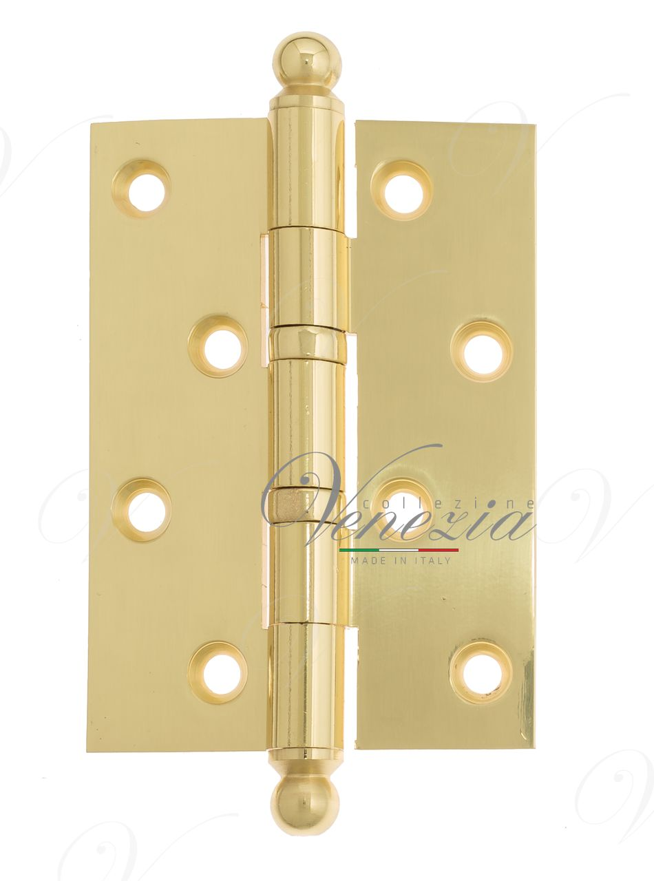 Universal brass hinge with a round cap Venezia CRS010 102x76x3 Polished Brass