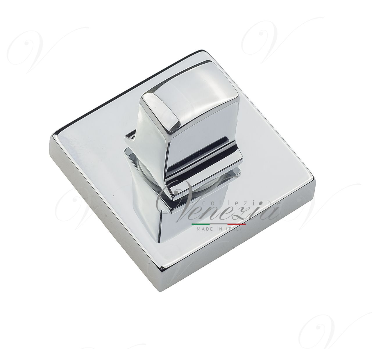 Bathroom Turn & Release Square Venezia Unique WC-20 Polished Chrome