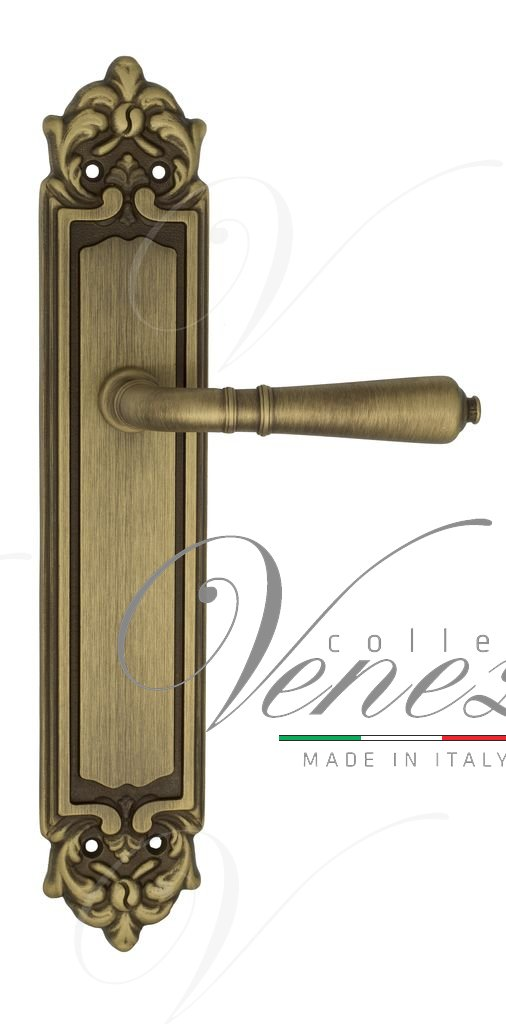 Door Handle Venezia  VIGNOLE  On Backplate PL96 Mat Bronze