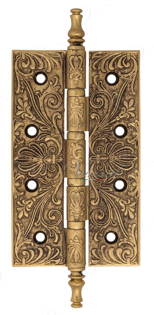 Universal Brass Hinge With Pattern Venezia CRS012 152x89x4 French Gold + Brown