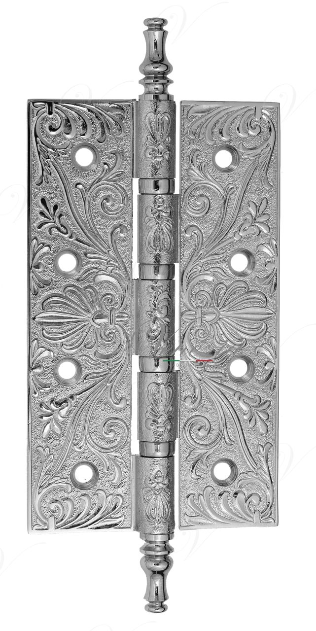 Universal Brass Hinge With Pattern Venezia CRS012 152x89x4 Polished Chrome