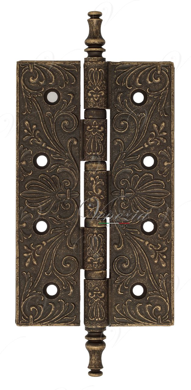 Universal Brass Hinge With Pattern Venezia CRS012 152x89x4 Antique Bronze