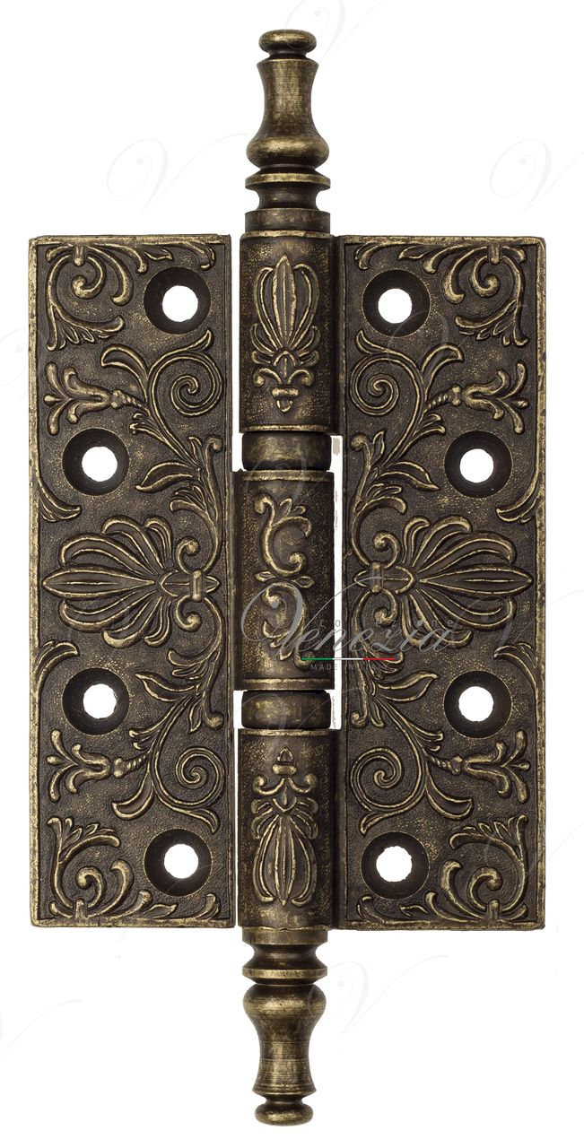 Universal Brass Hinge With Pattern Venezia CRS011 102x76x4 Antique Bronze