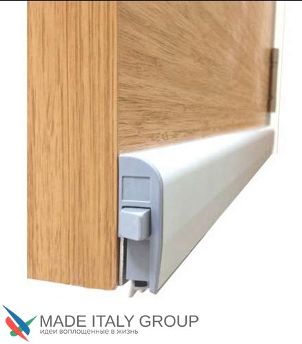 Automatic Bottom Door Seal (external) Venezia 1450/900 mm With One Ajustable Point (Silver Gray)