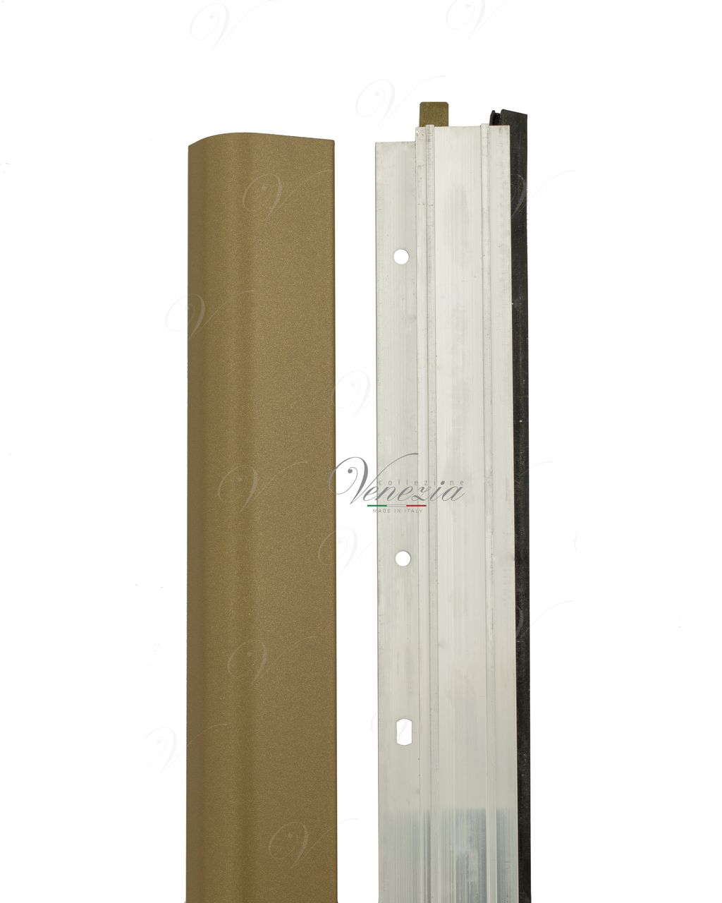 Automatic Bottom Door Seal (external) Venezia 1450/700 mm With One Ajustable Point (Brown)