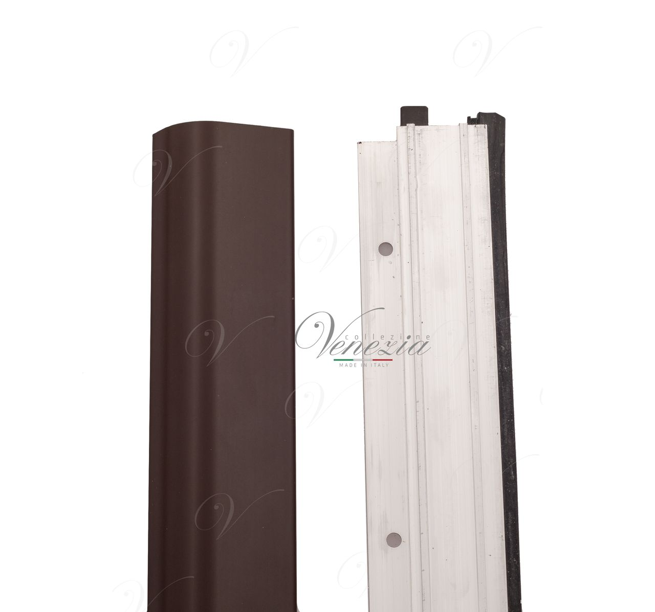Automatic Bottom Door Seal (external) Venezia 1450/700 mm With One Ajustable Point (Dark Brown)