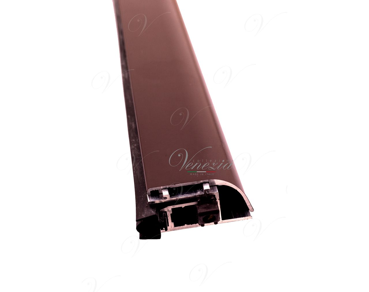 Automatic Bottom Door Seal (external) Venezia 1450/900 mm With One Ajustable Point (Dark Brown)