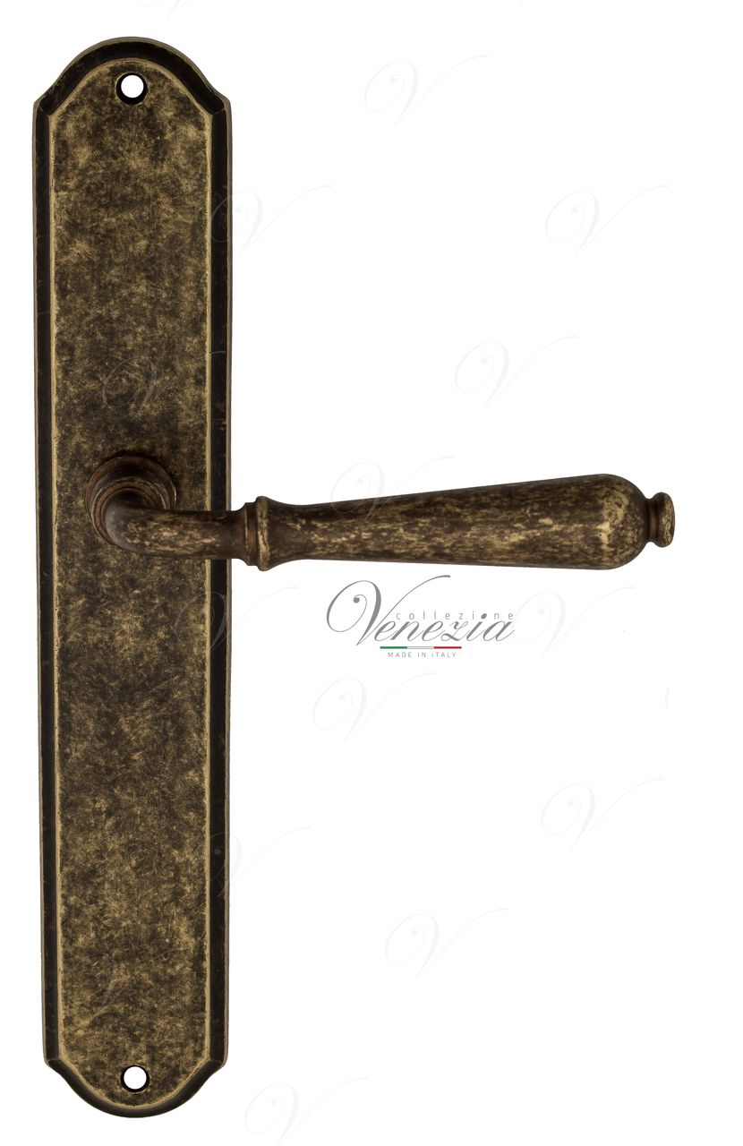 Door Handle Venezia  CLASSIC  On Backplate PL02 Antique Bronze