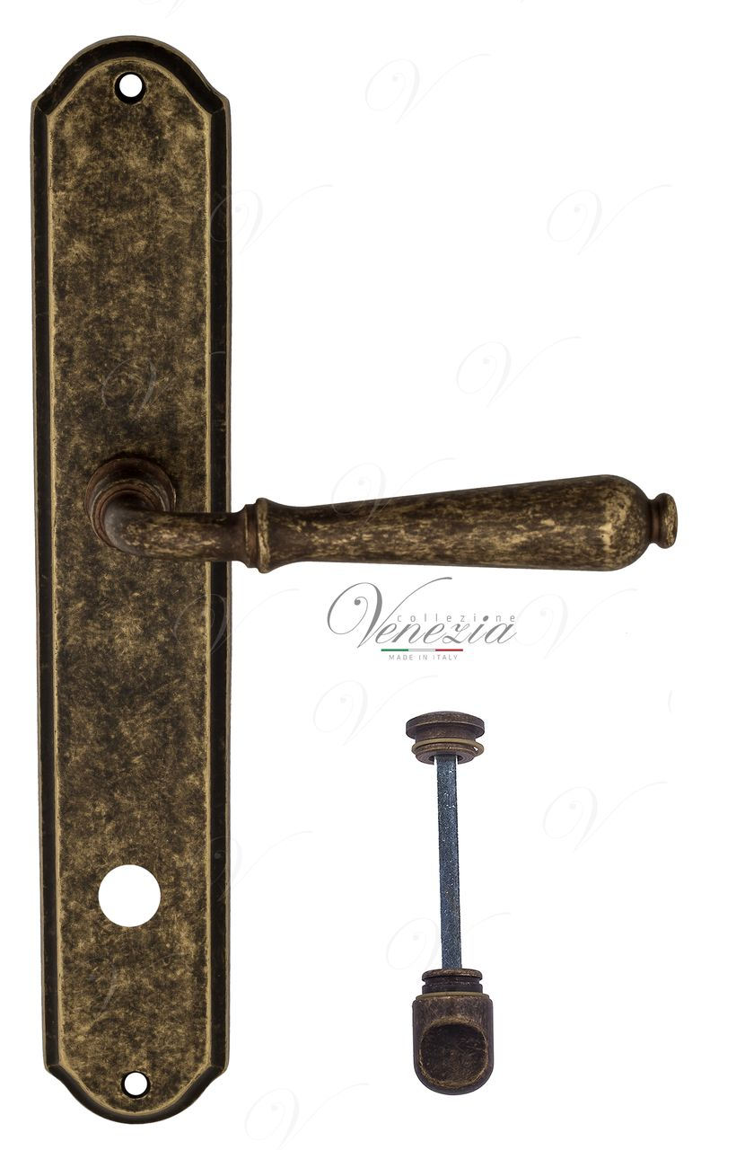 Door Handle Venezia  CLASSIC  WC-1 On Backplate PL02 Antique Bronze