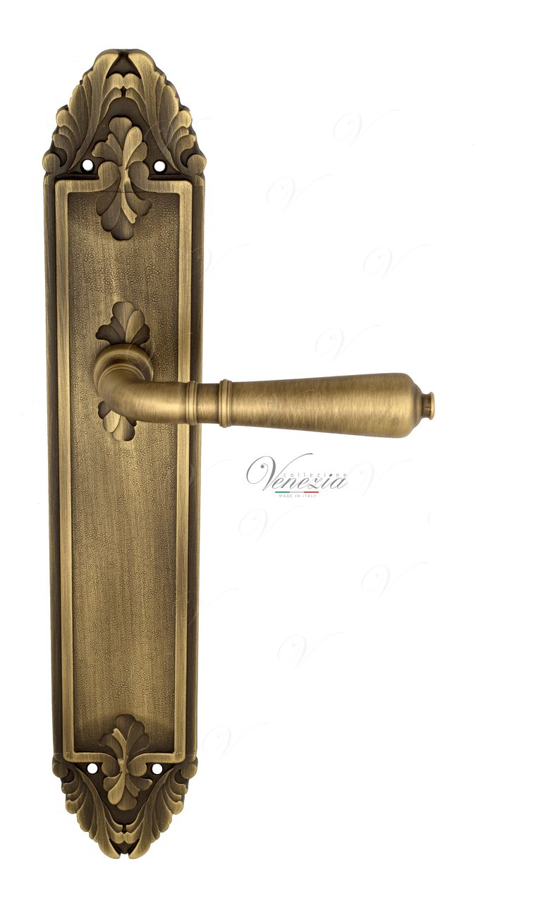 Door Handle Venezia  VIGNOLE  On Backplate PL90 Mat Bronze