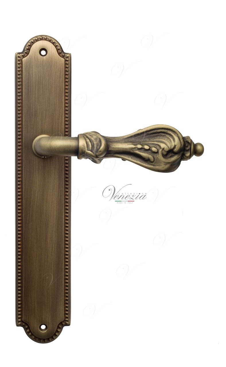 Door Handle Venezia  FLORENCE  On Backplate PL98 Mat Bronze