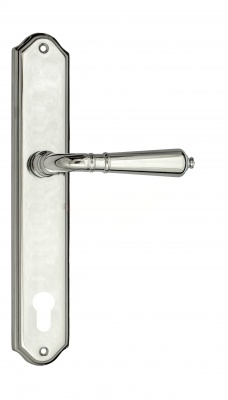 Door Handle Venezia  VIGNOLE  CYL On Backplate PL02 Polished Chrome
