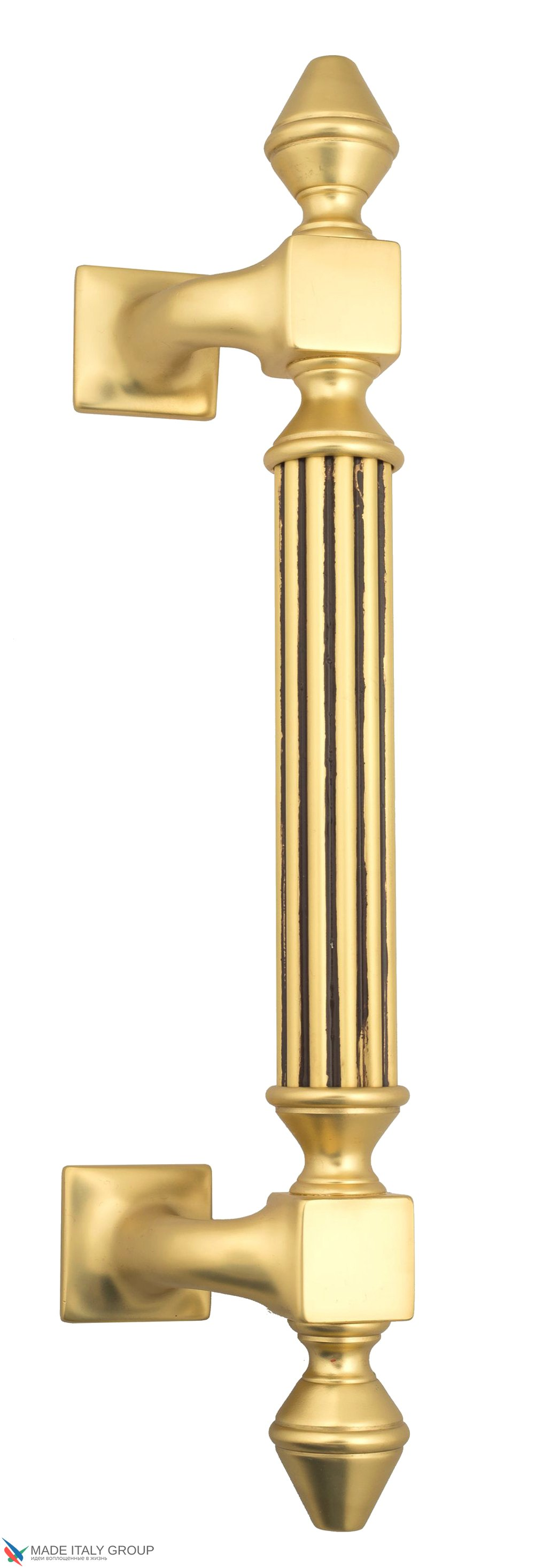 Pull Handle Venezia  IMPERIONE  365mm (235mm) French Gold + Brown