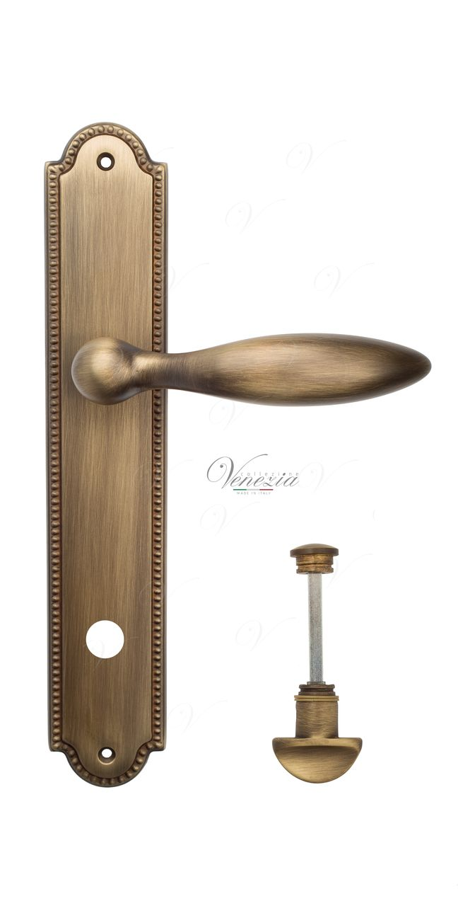 Door Handle Venezia  MAGGIORE  CYL On Backplate PL98 Mat Bronze