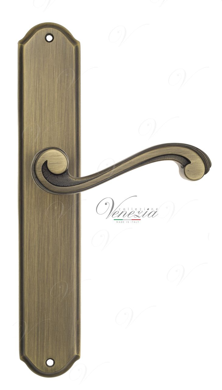 Door Handle Venezia  VIVALDI  On Backplate PL02 Mat Bronze