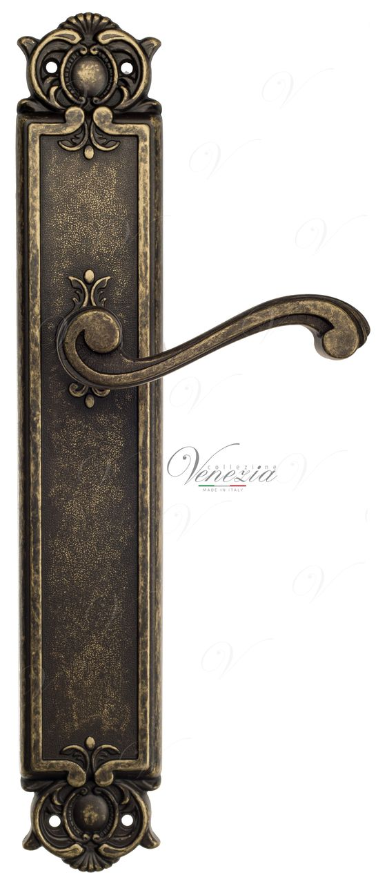 Door Handle Venezia  VIVALDI  On Backplate PL97 Antique Bronze