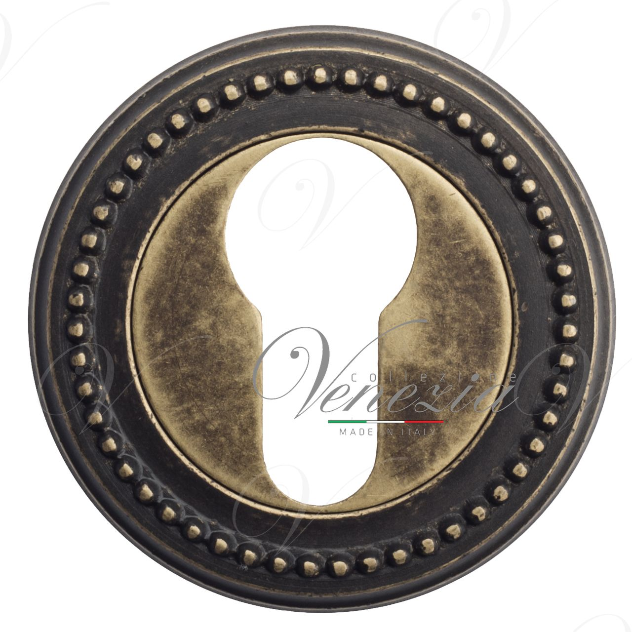 Euro Escutcheon Venezia CYL-1 D3 Antique Bronze