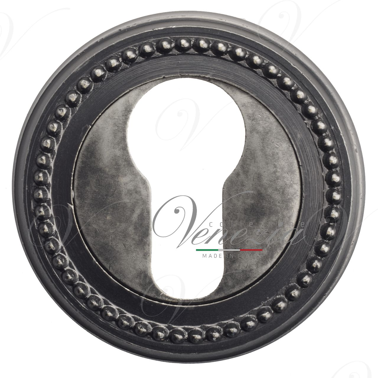 Euro Escutcheon Venezia CYL-1 D3 Antique Silver