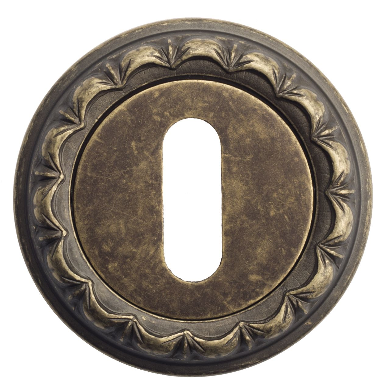 Keyhole Escutcheon Venezia KEY-1 D2 Antique Bronze