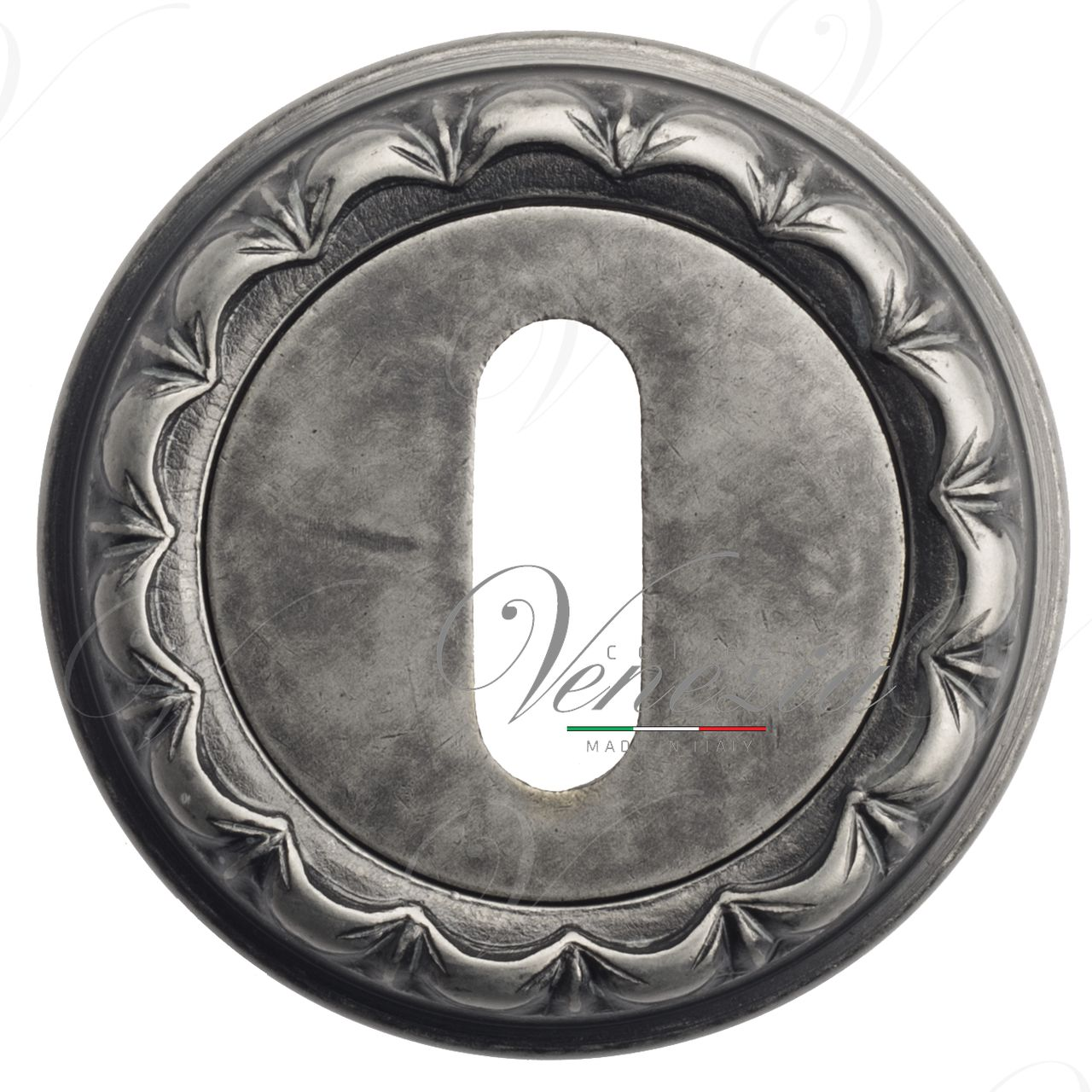 Keyhole Escutcheon Venezia KEY-1 D2 Antique Silver