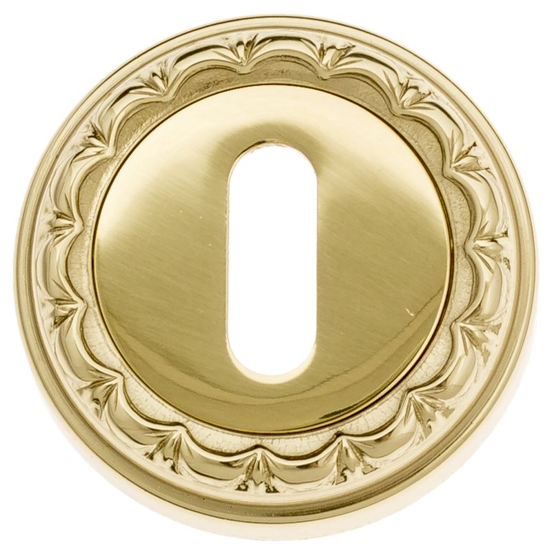 Keyhole Escutcheon Venezia KEY-1 D2 Polished Brass