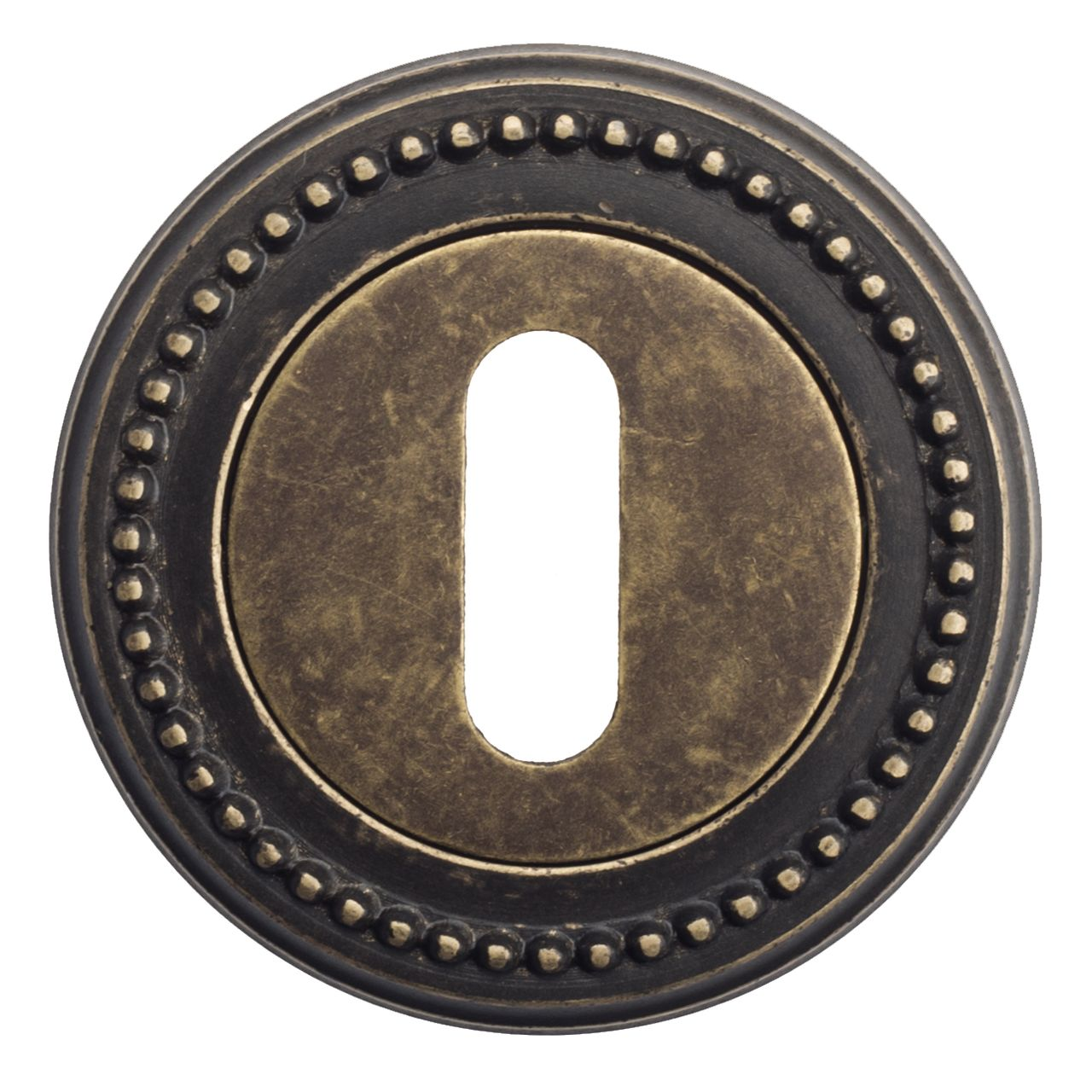 Keyhole Escutcheon Venezia KEY-1 D3 Antique Bronze