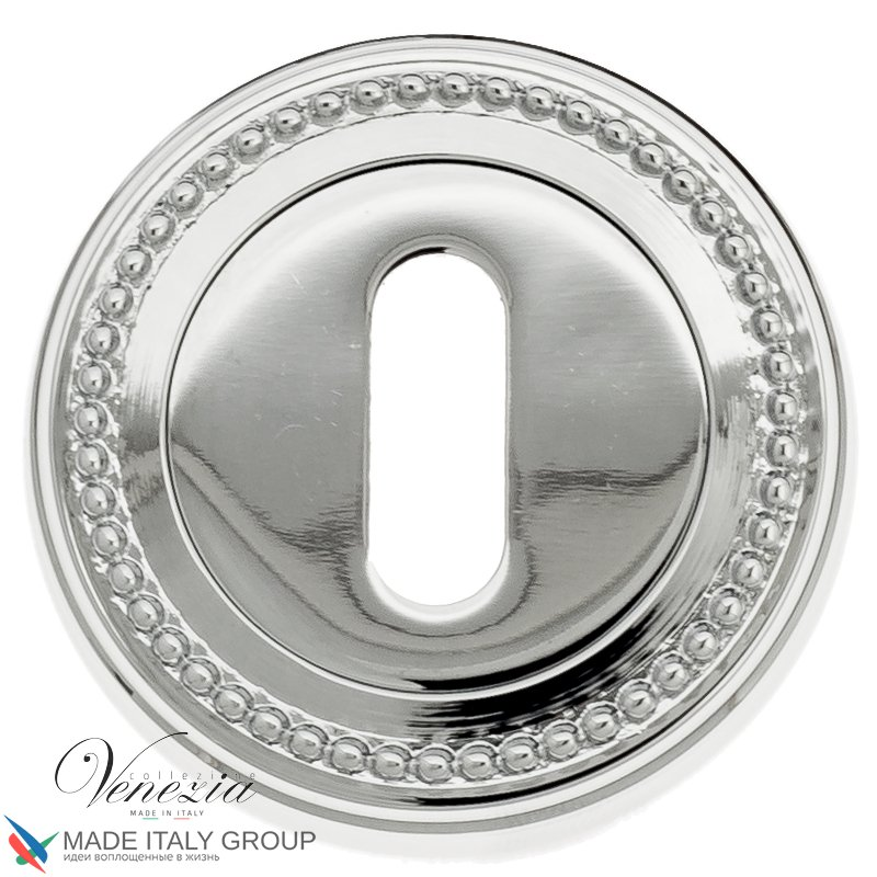 Keyhole Escutcheon Venezia KEY-1 D3 Polished Chrome