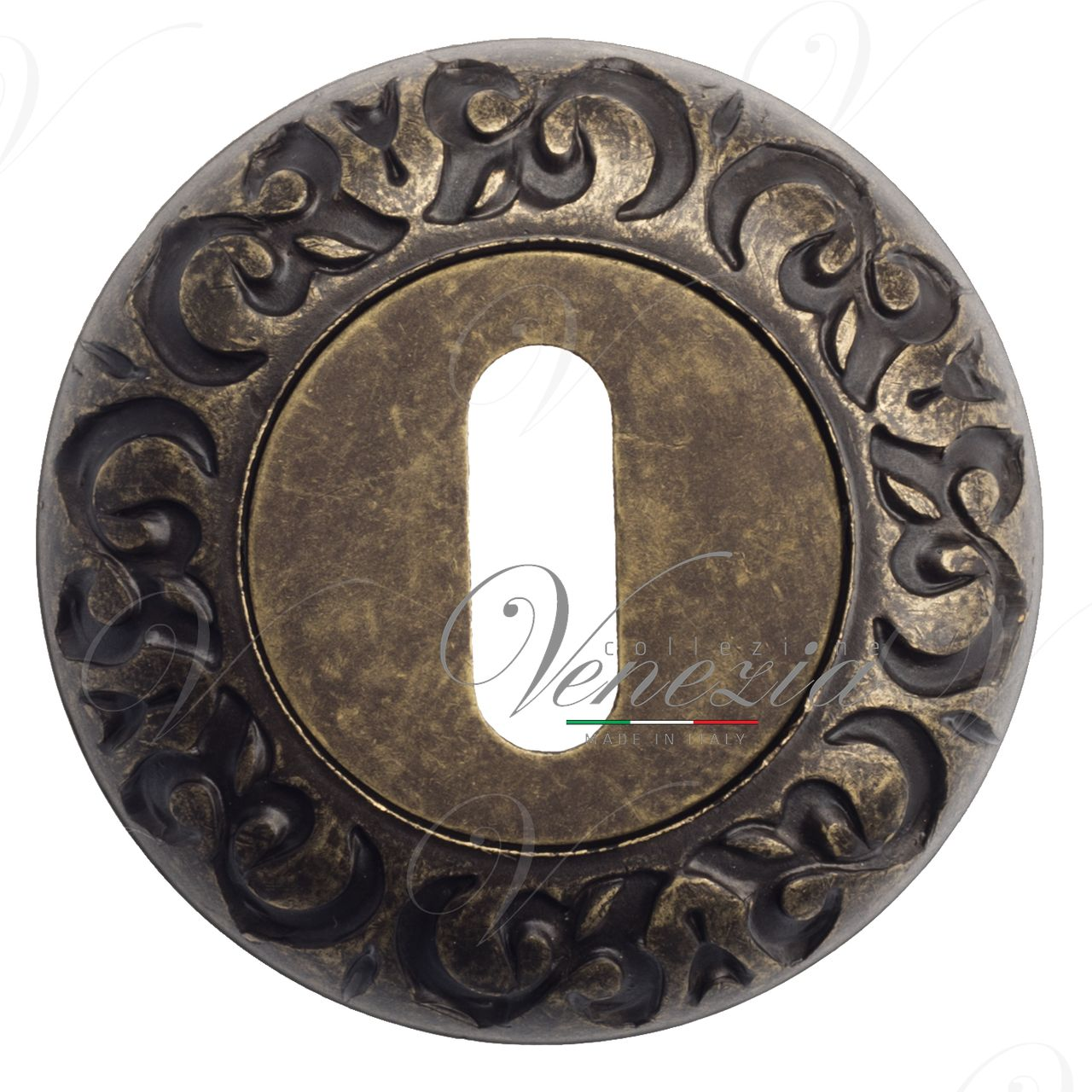 Keyhole Escutcheon Venezia KEY-1 D4 Antique Bronze