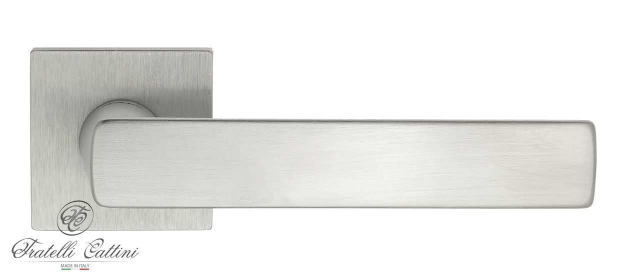 Door Handle on Square Basis Fratelli Cattini ''ELLE'' 8-CR Mat Chrome