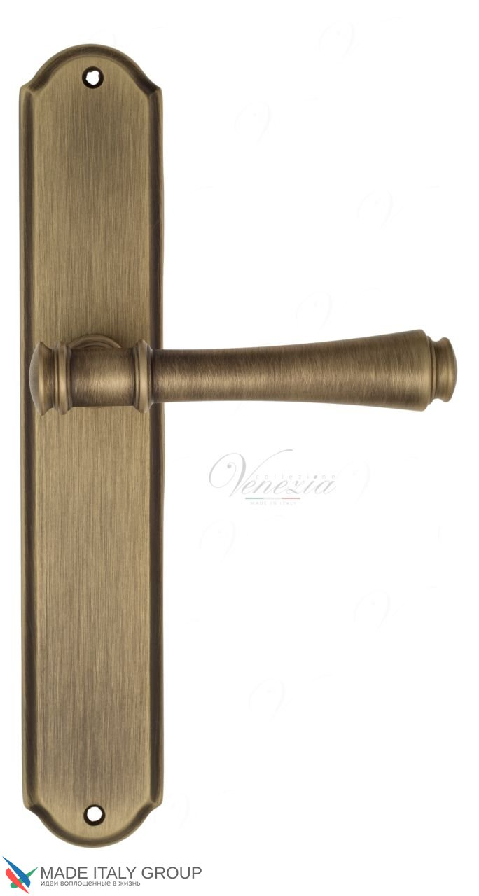 Door Handle Venezia  CALLISTO  On Backplate PL02 Mat Bronze