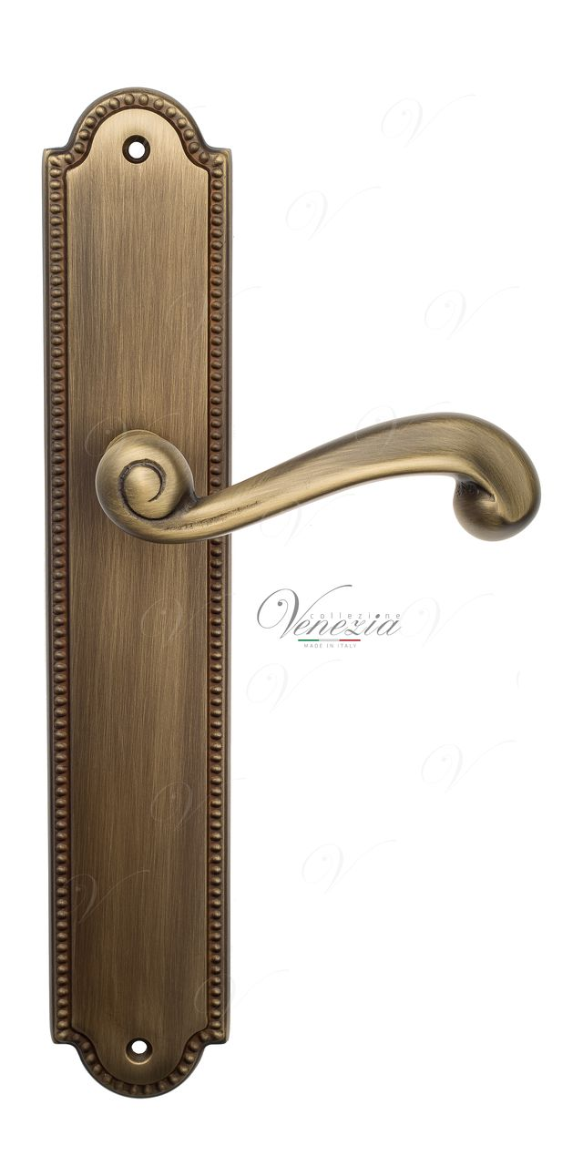 Door Handle Venezia  CARNEVALE  On Backplate PL98 Mat Bronze