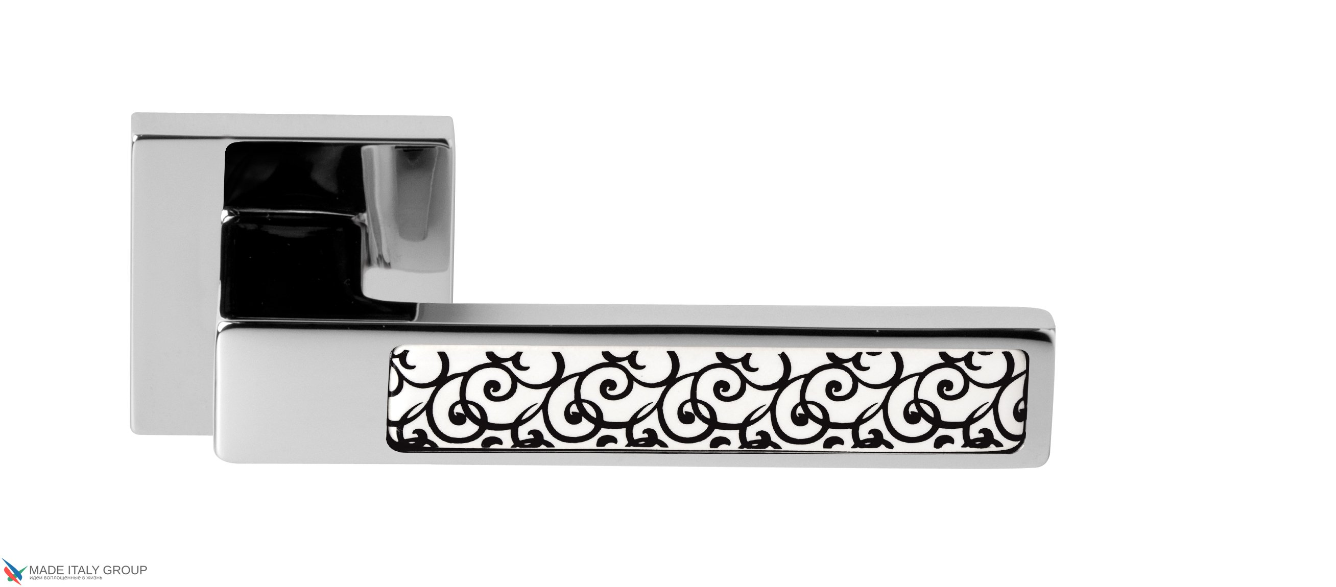 Door Handle Venezia Unique  BILBAO CERAMICA  Polished Chrome