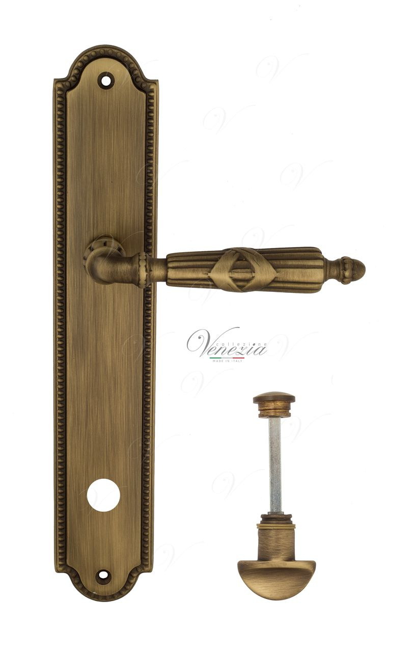 Door Handle Venezia  ANNETA  WC-2 On Backplate PL98 Mat Bronze