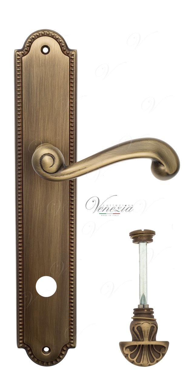 Door Handle Venezia  CARNEVALE  WC-4 On Backplate PL98 Mat Bronze