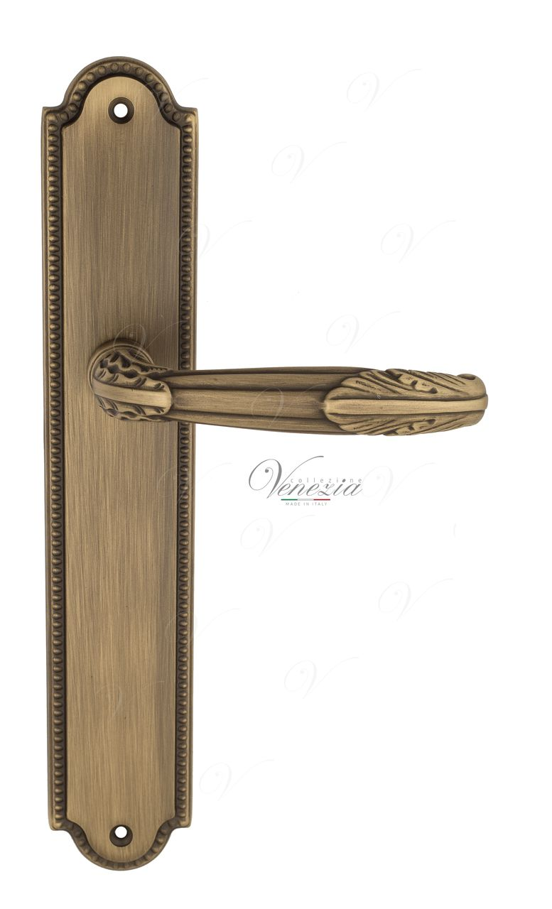 Door Handle Venezia  ANGELINA  On Backplate PL98 Mat Bronze