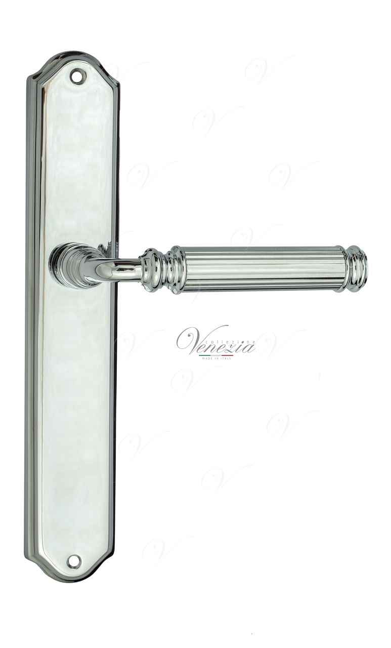 Door Handle Venezia  MOSCA  On Backplate PL02 Polished Chrome