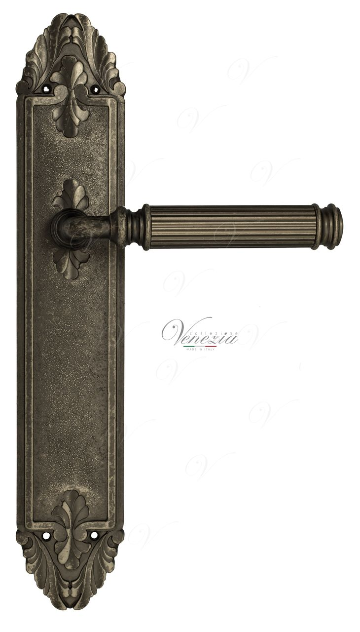 Door Handle Venezia  MOSCA  On Backplate PL90 Antique Silver